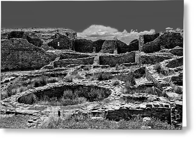 Chaco Canyon Greeting Cards - Chaco Fifteen Greeting Card by Paul Basile