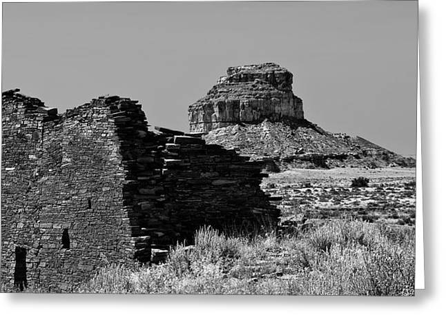 Chaco Canyon Greeting Cards - Chaco One Greeting Card by Paul Basile
