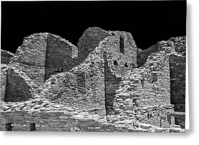 Chaco Canyon Greeting Cards - Chaco Sixteen Greeting Card by Paul Basile