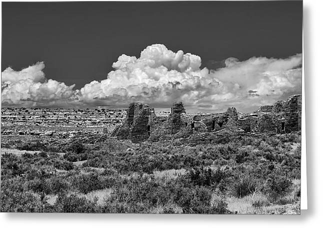 Chaco Canyon Greeting Cards - Chaco Three Greeting Card by Paul Basile