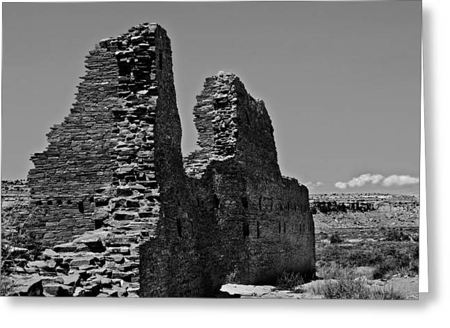 Chaco Canyon Greeting Cards - Chaco Two Greeting Card by Paul Basile