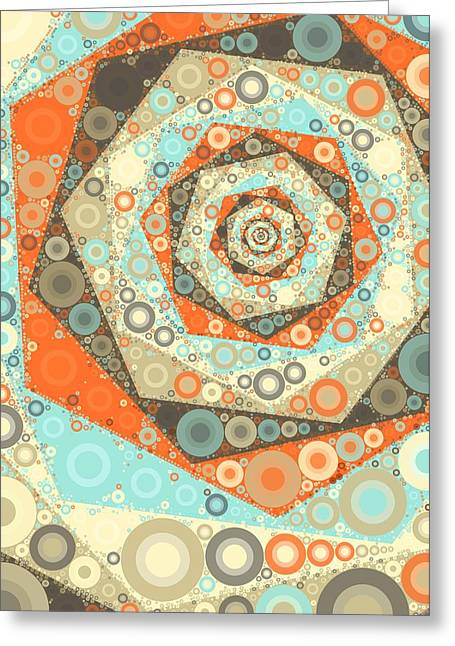 Geometric Shape Greeting Cards - Afternoon Chai - Circles Greeting Card by Sharon Norman