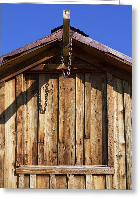 Wooden Structures Greeting Cards - Chain Up Greeting Card by Kelley King