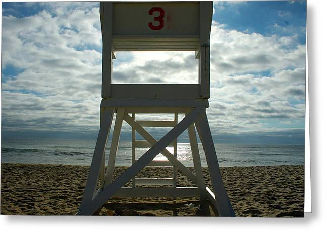 Marconi Beach Greeting Cards - Chair 3 Greeting Card by C Lambson