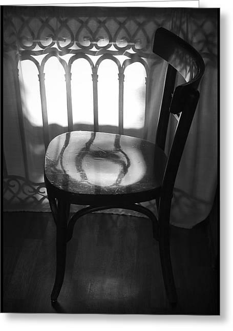 Julia Bridget Hayes Greeting Cards - Chair Greeting Card by Julia Bridget Hayes