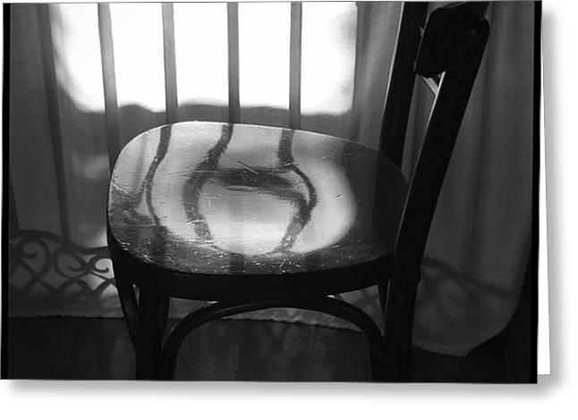 Chair Greeting Card by Julia Bridget Hayes