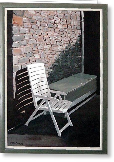 Chair Greeting Card by Marie Dunkley