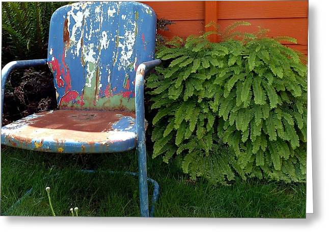 Chair Of Many Colors Greeting Card by Patricia Strand