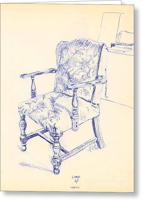 Chair Greeting Card by Ron Bissett