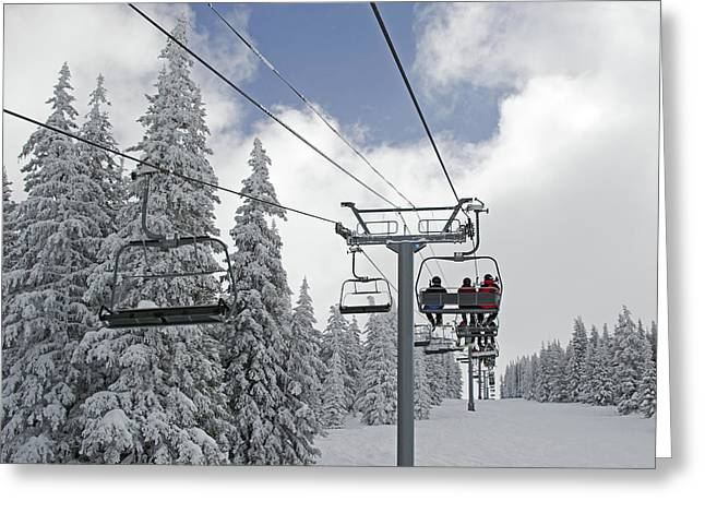 Chairlift At Vail Resort - Colorado Greeting Card by Brendan Reals