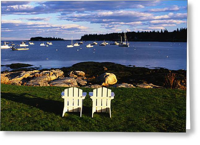 Lawn Chair Greeting Cards - Chairs Lobster Village Me Greeting Card by Panoramic Images