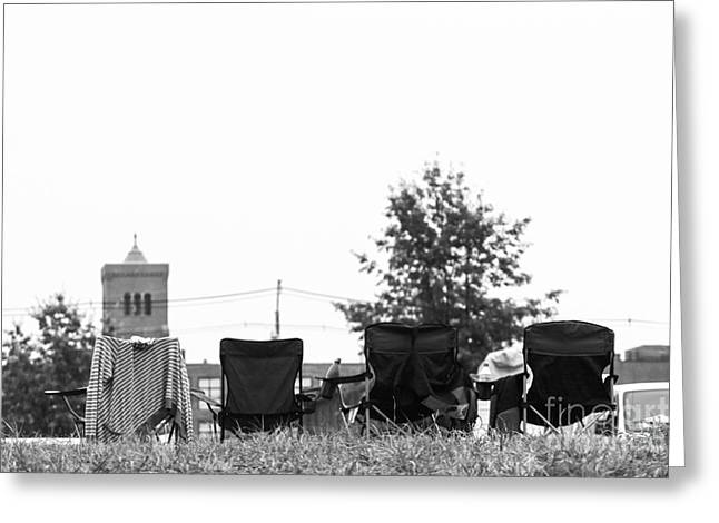 Lawn Chair Greeting Cards - Chairs Greeting Card by Victory  Designs