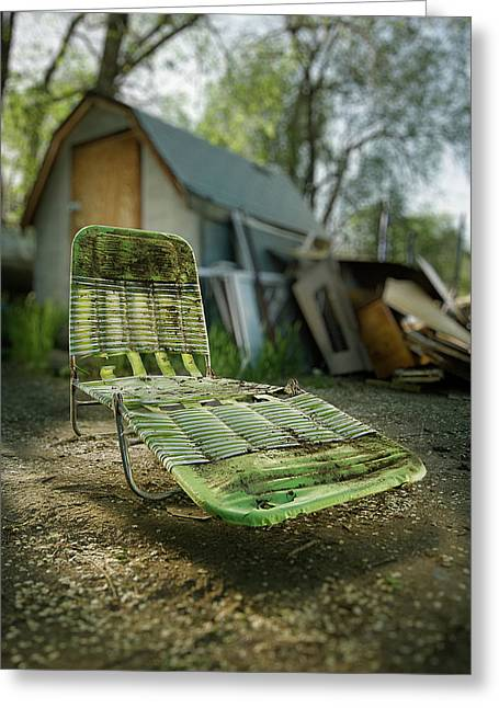 Destroyed Greeting Cards - Chaise Lounge Greeting Card by Yo Pedro