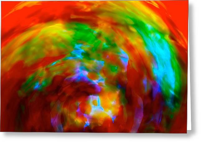 Chakra Rainbow Greeting Cards - Chakra Energy Swirls Greeting Card by Tim G Ross