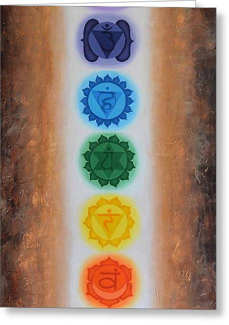Indigo Chakra Greeting Cards - Chakra Flow  Greeting Card by Hannah Florek