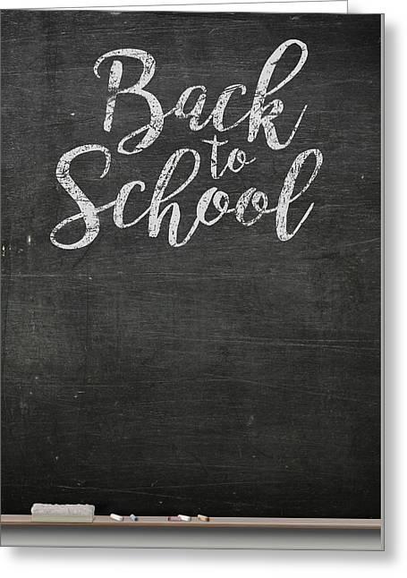 Chalk Board Greeting Card by Allan Swart