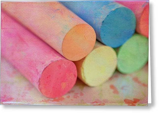 Pastel Greeting Card featuring the photograph Chalk by June Marie Sobrito