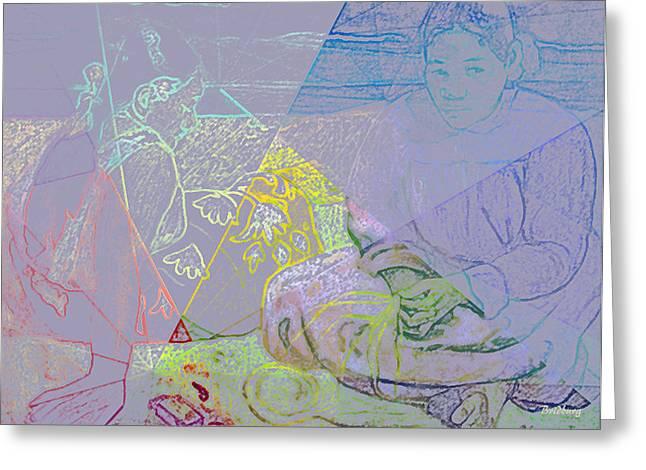 Pencil On Canvas Greeting Cards - Chalkboard Greeting Card by David Bridburg