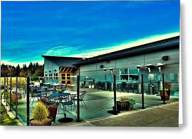 Chambers Bay Golf Course Greeting Cards - Chambers Bay - Clubhouse and Restaurant Greeting Card by David Patterson