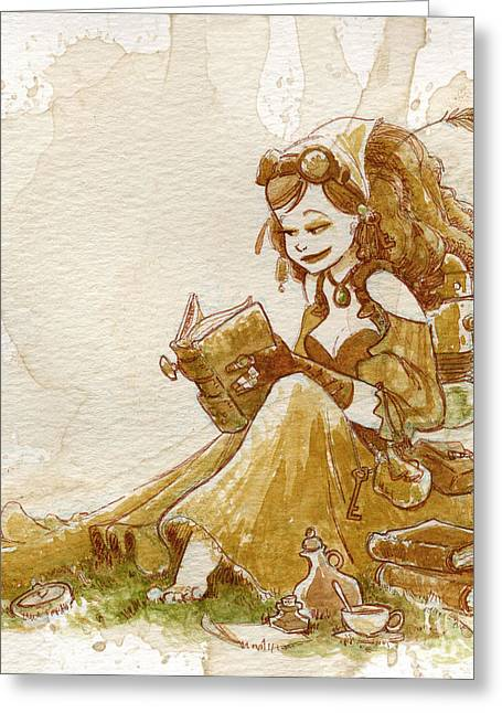 Steampunk Greeting Cards - Chamomile 2 Greeting Card by Brian Kesinger