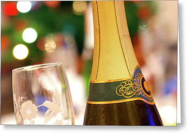 Champagne Greeting Card by Carlos Caetano