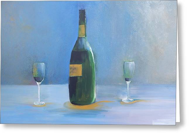 Champagne For Two Greeting Card by Lisa Kaiser