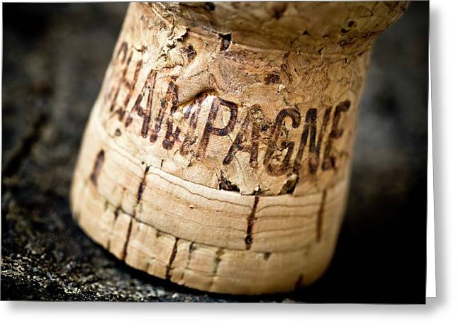 Champagne Greeting Card by Frank Tschakert