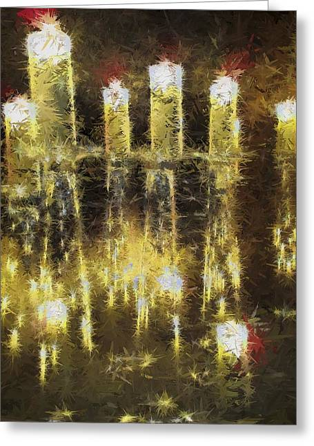 Abstract Digital Digital Greeting Cards - Champagne Toast Abstract Greeting Card by Karen Jensen