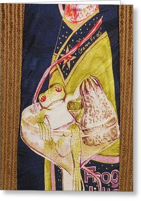 Amphibians Tapestries - Textiles Greeting Cards - Champagne Wishes and caviar Dreams Greeting Card by David Kelly