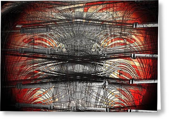 Modern Digital Art Digital Art Greeting Cards - Champange Congos Greeting Card by Joshua Moore