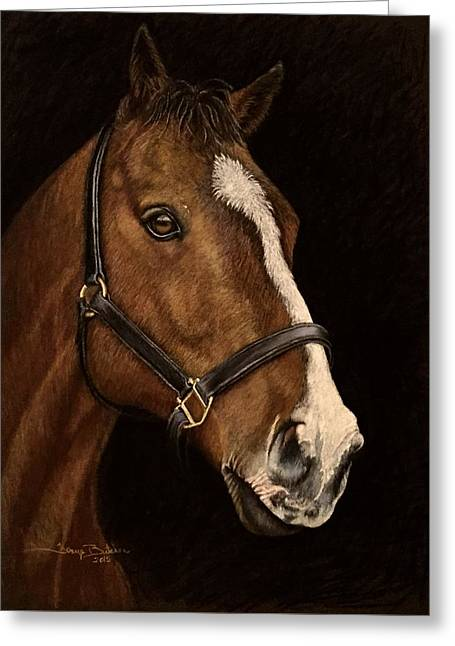 Equine Pastels Pastels Greeting Cards - Champion Greeting Card by Tonya Butcher