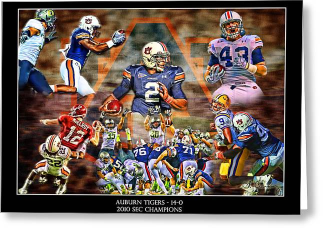 Football National Champions Greeting Cards - Champions Greeting Card by Lance Curry