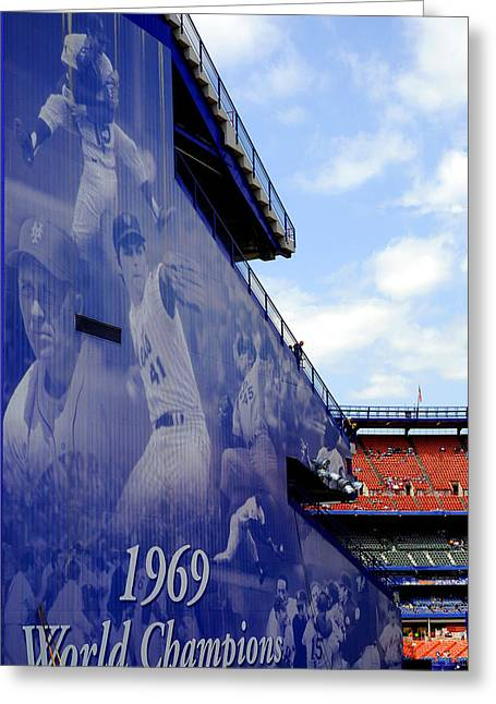 Shea Stadium Greeting Cards - Champions of Shea Greeting Card by William Reade