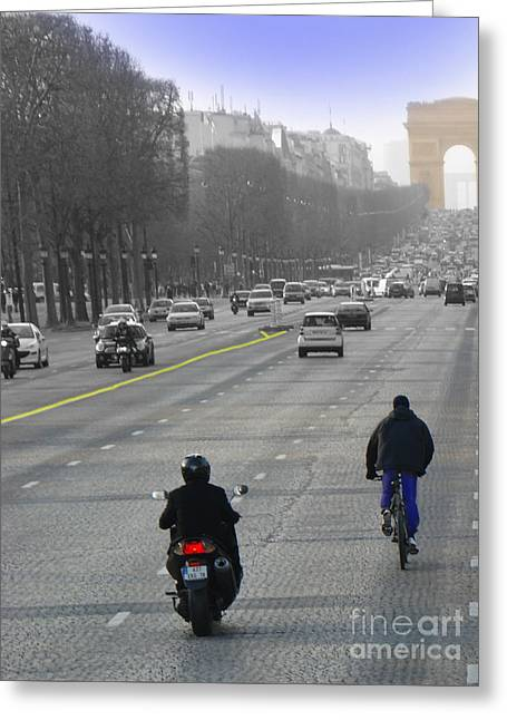 Bastille Greeting Cards - Champs Elysees II Greeting Card by Al Bourassa