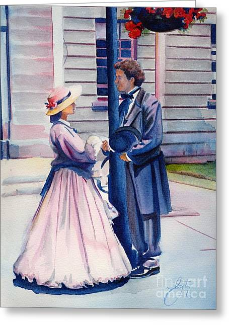 First-lady Greeting Cards - Chance Meeting Greeting Card by Daniela Easter