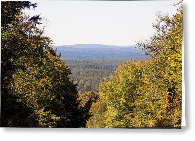 Rural Maine Roads Greeting Cards - Chance Vista Greeting Card by William Tasker