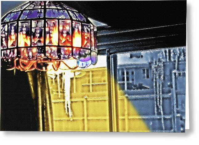 Chandelier - Warm Glow Greeting Card by Steve Ohlsen
