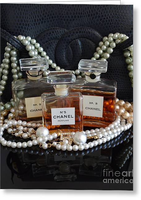 Catherine White Greeting Cards - Chanel Classic 2 Greeting Card by To-Tam Gerwe