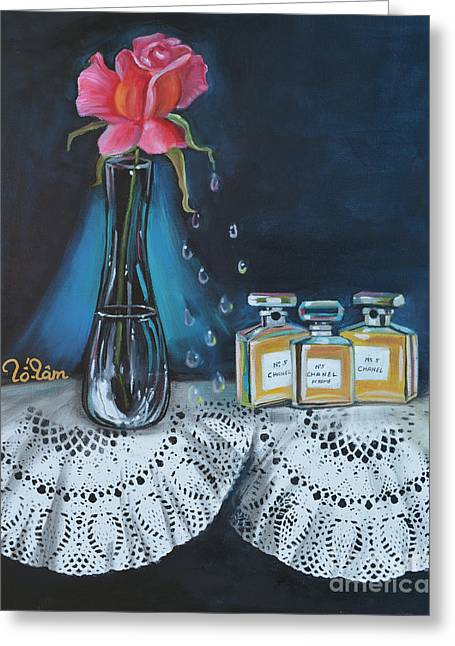 Glass Bottle Greeting Cards - Chanel Classic 3 Greeting Card by To-Tam Gerwe
