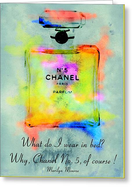 Chanel No.5  Greeting Card by Diana Van