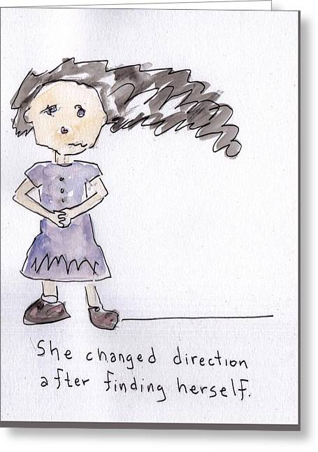 Forgiven Mixed Media Greeting Cards - Change Direction Greeting Card by Glen Martin Taylor