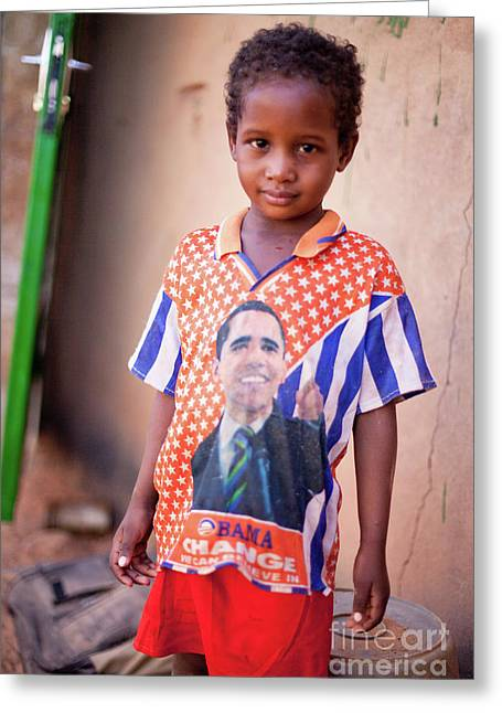 Obama Children Greeting Cards - Change is Everywhere Greeting Card by Irene Abdou