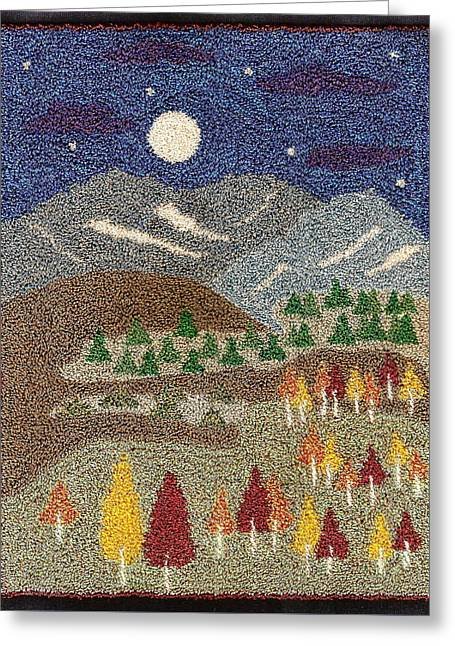Surreal Landscape Tapestries - Textiles Greeting Cards - Changes Greeting Card by Jan Schlieper