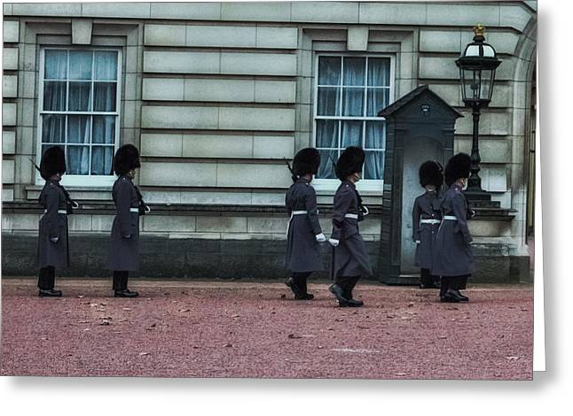 Changing Of The Guard Greeting Card by Martin Newman