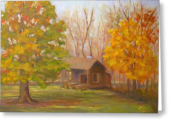 Fall Grass Greeting Cards - Changing Season Greeting Card by Robie Benve