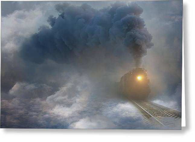 Manipulation Greeting Cards - Changing Weather ... Greeting Card by Nataliorion