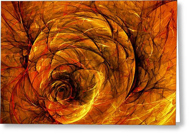 Depth Greeting Cards - Chaos Greeting Card by Scott Norris