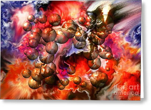 Spano Greeting Cards - Chaos Spheres by Spano Greeting Card by Michael Spano