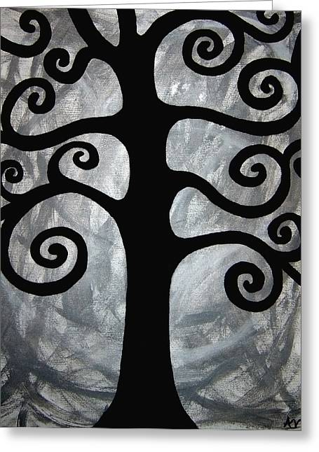 Abstract Expression Greeting Cards - Chaos Tree Greeting Card by Angelina Vick
