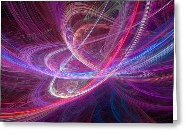 Geometric work Photographs Greeting Cards - Chaos Waves, Artwork Greeting Card by Laguna Design